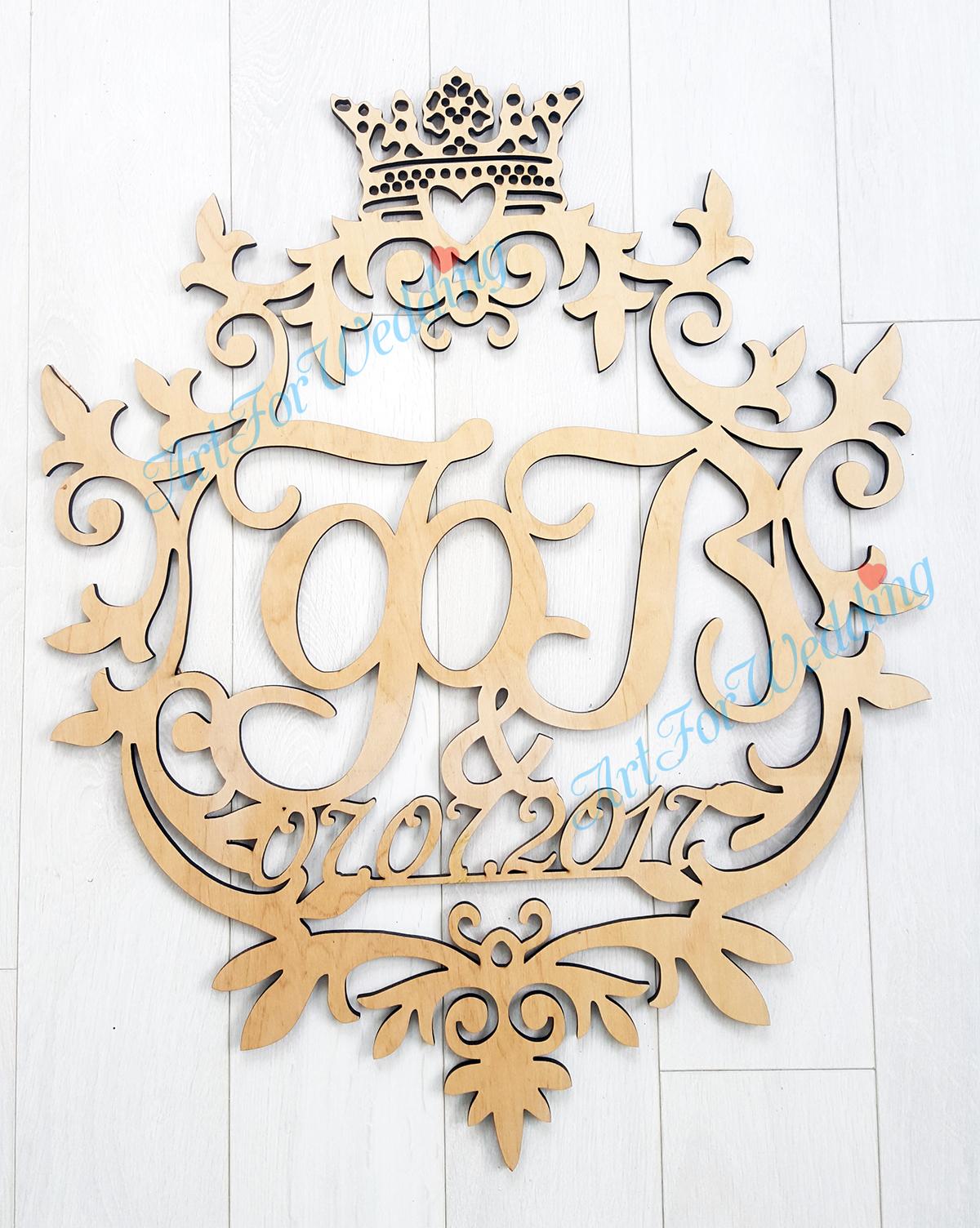 Монограмма на свадьбу: дизайн семейного герба 81